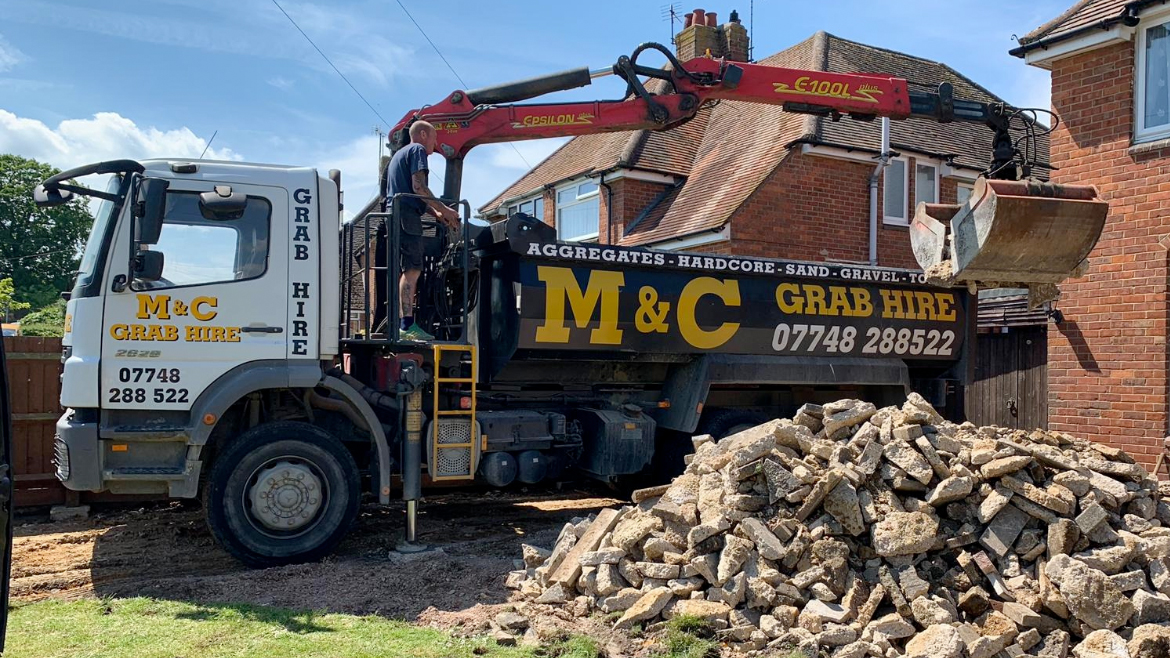 grab hire services in oxfordshire